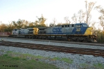 CSX 348 on the front of Q101 at Amber St getting a crew change
